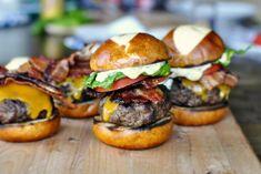 Bacon Cheddar Ranch Pub Burgers www.SimplyScratch.com