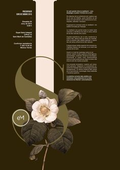 Poster by Xavier Esclusa - love the mix of type & botanicals, and the colour scheme.