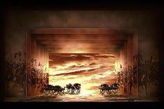 Joan of Arc. (Model). Teatro Regio di Parma. Scenic design by Alessandro Camera. Pictorial realizations by Rinaldo Rinaldi. 2008
