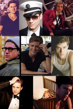 aaron tveit...it's those mouth lines... It's the singing and macho Graceland stuff really...