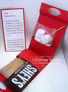 S'Mores Gift Kit.  I need to figure out how to make this!  So cute!