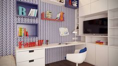 Minimalist nursery/kids room by Art-i-Chok Minimalist Nursery, Design Minimalista, Cool Kids Rooms, Kids Bedroom, Kitchen Cabinets, Cool Stuff, Bedrooms, House, Furniture