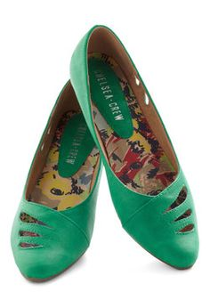 Raindrop Everything Flat in Emerald, #ModCloth