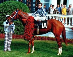 Secretariat After He Wins the final leg of the Triple Crown, setting record times in all 3 races.