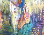 After Midnight....abstract original by Annie Lockhart