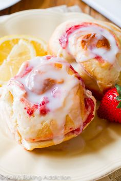 Strawberry Rolls with Sweet Lemon Glaze. can make ahead You can easily freeze the rolls and wake up to warm, gooey, soft, and sweet strawberry rolls in the morning