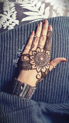 Henna design. By Alia Khan. Mehndi