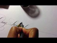 Pray, Love, Forgive--Flourished Script #Calligraphy #ATLCalligrapher #Handlettering