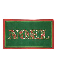 Take a look at this Green 'Noel' Indoor Floor Mat by Mohawk Home on #zulily today!