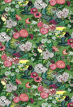 Chiang Mai Dragon Schumacher Fabric in Jade! I am obsessed with this new version!!!