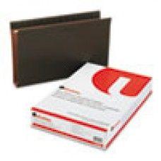 Desk Supplies>Desk Set / Conference Room Set>Holders> Files & Letter holders:  Two Inch Box Bottom Pressboard Hanging Folder, Legal, Standard Green, 25/Box