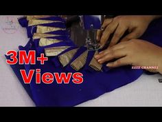 How to Cut and Stitch Paithani Saree Blouse Design Saree Blouse Neck Designs, Neckline Designs, Dress Neck Designs, Fancy Blouse Designs, Blouse Patterns, Hand Embroidery Videos, Kurti Designs Party Wear, Hand Designs, Youtube Sewing