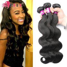 Brazilian Body Wave Human Virgin Hair 3 Bundles Hair Extensions Weave Weft 300g #HEBE #WaveBundle