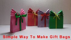 Origami- How To Make Easy Paper Gift Bags