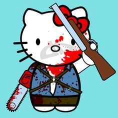 Evil Dead Hello Kitty this is my BOOOOOOOOOM STICK..LUV IT