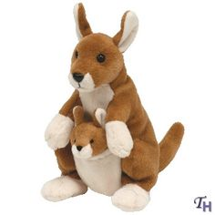 Beanie Babies Pogo Kangaroo by Ty Kids Toy Store, New Kids Toys, Beanie Buddies, Ty Beanie Boos, Ty Plush, Ty Babies, Ty Toys, Baby Queen, Cute Stuffed Animals