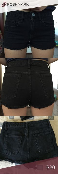 High rise black shorts Super cute, lightly worn Mossimo Supply Co Shorts