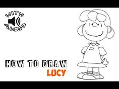 How to Draw Lucy from The Peanuts Movie Step by Step Tutorial - How to Draw Step by Step Drawing Tutorials How To Draw Ears, How To Draw Steps, Learn To Draw, Charlie Brown Movie, Royal Icing Transfers, Peanuts Movie, Sidewalk Art, Letter D, Step By Step Drawing