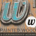 Painted Wood Photoshop Action