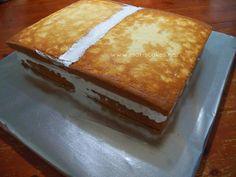 Cómo Armar y Decorar un Bizcocho, unir bizcochos. Dominican cake @Mari Nunez (Mari's Cakes)