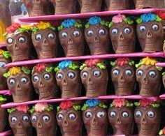 Calaveras - Chocolate Skulls @mercado de Portales, Mexico City