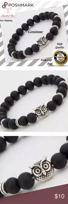 New Owl energy stone bracelet men women bracelet 100% SATISFY 100% TOP SERVICE     Features:  Brand New  Color: gold/black  Material:Alloy+Stone/crystal  Length: about 19-20cm  Package Included:   1pcs x Bracelet Accessories Jewelry