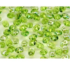20gr Czech Two-Hole Seed Beads SuperDuo 2.5x5mm OLIVINE AB