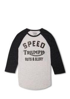 Lucky Brand  Triumph Baseball Tee