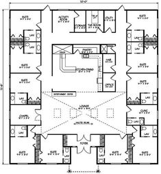 Care Home Sq. Footage: 4991 Bedrooms: Bathrooms: Floors: 1 Garage: None Plan Type: Multi Family X Change it a little bit and it would make an awesome B&B! Dorm Design, House Design, Interior Design, Small House Plans, House Floor Plans, Plano Hotel, Nelson Homes, Hotel Floor Plan, Affordable House Plans
