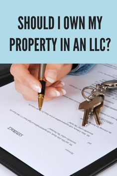 Should I own my property in LLC? - own property in llc - Investment Property For Sale, Income Property, Rental Property, Property Investor, Real Estate Business, Real Estate Investor, Real Estate Marketing, Llc Business, Business Coaching