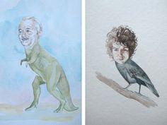 Bill Murray dinosaur and Bob Dylan crow