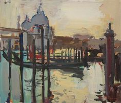 Luke Martineau, Grand Canal and Santa Maria Della Salute (oil on board, 8 x 9 ins) £1,250