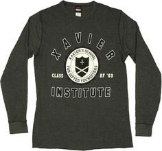 Save 20% off on entire selection of long sleeve T's! - X-Men Xavier Institute Thermal Long Sleeve T-Shirt