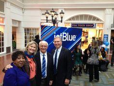 Launch of @JetBlue Airways at @Savannah Hilton Head International Airport 2-13-14; Left to right: Edna Branch Jackson, Mayor of @Visit Savannah , Lisa Sulka, Mayor of Bluffton, Drew Laughlin, Mayor of @Hilton Head , Bill Miles, President of the Hilton Head Island-Bluffton Chamber of Commerce