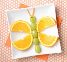 Food Art: A Fruity Butterfly Snack - Kix Cereal