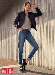 Denim updated for ultimate comfort. Our EZY Jeans are as soft as sweatpants. An adjustable elastic waistband provides a gently snug fit, no belt required. Keep your style cozy at uniqlo.com.