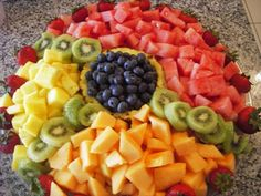 Our fruit & vegetable platters will consist of the freshest produce in season. A typical fruit tray will have: pineapple, honeydew, cantaloupe, strawberries, blueberries & grapes with a fruit dip. Planning Menu, Veggie Tray, Food Displays, Food Platters, Fruits And Veggies, The Fresh, Fresh Fruit, Love Food, Food And Drink