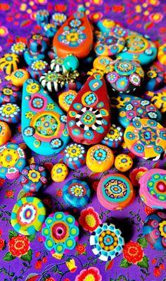 Birght Boho Clay Beads