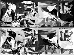 Espacios positivos y negativos en las imágenes. Guernica de Picasso