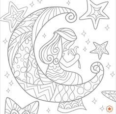 Desenho do signo virgem Fairy Coloring, Coloring Books, Mandala Coloring Pages, Colour Board, Art Therapy, 2 Colours, Mermaid, Symbols, Image
