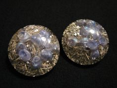 BIG Antique Round Blue Encased Sea Shell in by JewelryStash, $12.75
