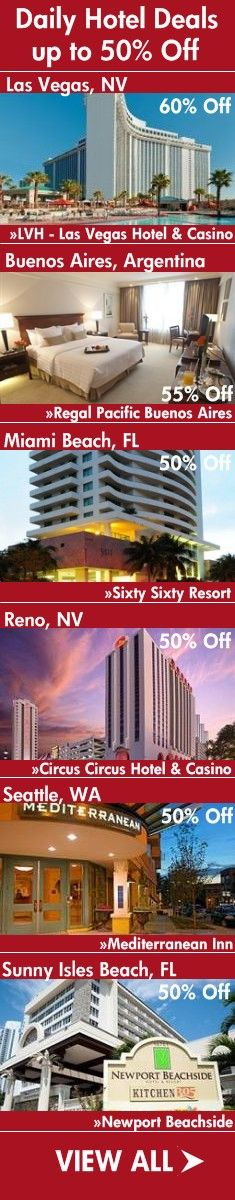 Hottest Daily Hotel Deals up to 50% Off!