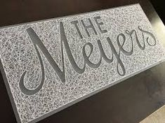 Image result for pattern for making a name with string art