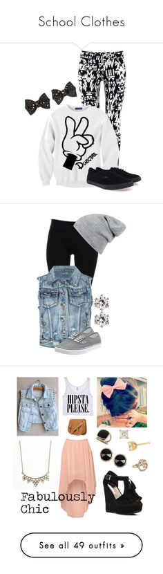 """School Clothes"" by hubbsgirl ❤ liked on Polyvore featuring H&M, Vans, Helmut Lang, ...Lost, Juicy Couture, Glamorous, Bamboo, Nordstrom, Wet Seal and With Love From CA"