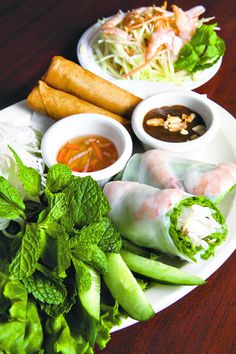Summer Rolls and Spring Rolls with Rice Vermicelli at Pho My Lien