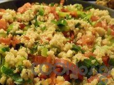 Πλιγούρι σαλάτα - Συνταγή εύκολες - Σχετικά με Νηστίσιμες, Ζυμαρικά και ρύζια, Ζυμαρικά, Σαλάτες με ζυμαρικά, Σαλάτες, Σαλάτες ζυμαρικών - Ποσότητα 4 άτομα - Χρόνος ετοιμασίας λιγότερο από 30 λεπτά Salad Bar, Appetisers, Fried Rice, Good Food, Tasty, Cooking, Ethnic Recipes, Kitchen, Nasi Goreng