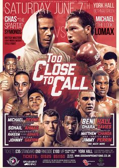 too close to call boxing poster design