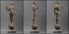 Gravity Demon [Clay Render], Pavee Keawmafai on ArtStation at https://www.artstation.com/artwork/gravity-demon-clay-render