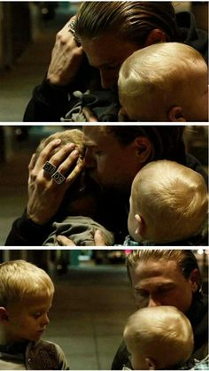 Jax saying goodbye to his boys, ready to go to jail to better their lives...
