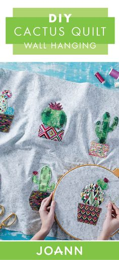 Combine your love of quilting and bohemian design with this DIY Cactus Quilt Wall Hanging from JOANN. Thanks to the variety of succulent designs, you'll love making this craft your own!